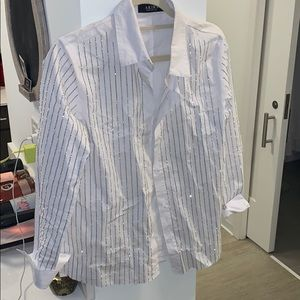 White button up with studs